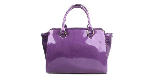 Dámská lesklá fialová kabelka Gessy