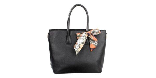 Dámská černá kabelka se šátkem Gessy