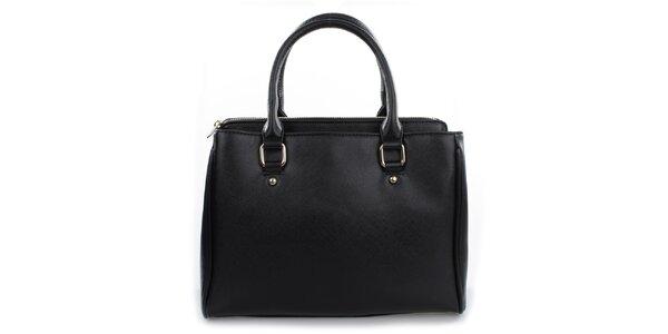 Dámská černá kabelka s odepínacím popruhem Gessy