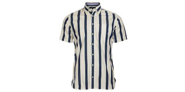 Pánská modro-bílá proužkovaná košile Tommy Hilfiger