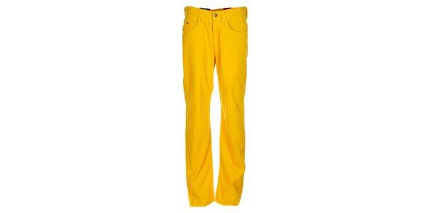 Pánské kanárkově žluté manšestráky Tommy Hilfiger