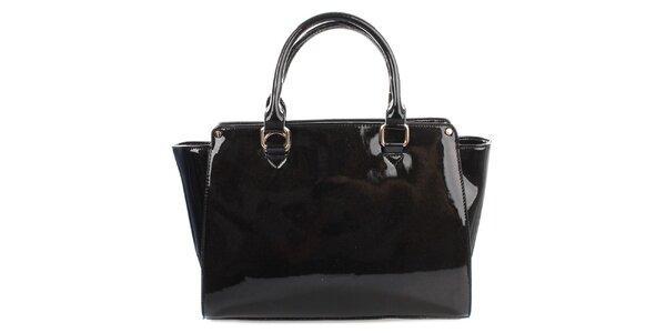 Dámská lesklá černá kabelka Gessy