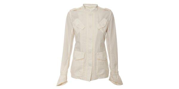 Bílý jarní kabátek Pietro Fillipi