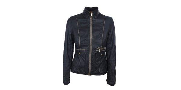 Dámská tmavě hnědá bunda s béžovými detaily Company&Co