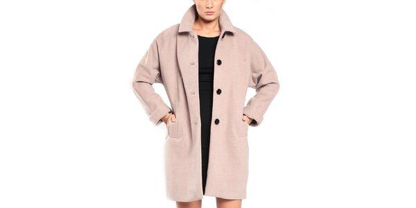 Dámský šedobéžový retro kabát Vera Ravenna