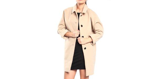 Dámský béžový retro kabát Vera Ravenna