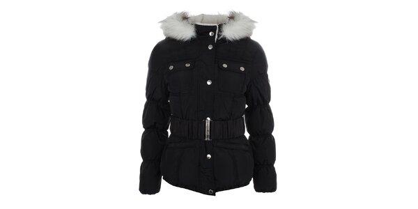 Dámská černá bunda s prošívanými rukávy Halifax