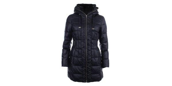 Dámský tmavomodrý prošívaný kabát na zip Halifax