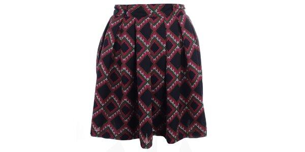 Dámská sukně s barevným potiskem Iska