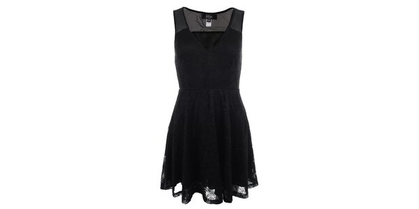 Dámské černé krajkové šaty Iska