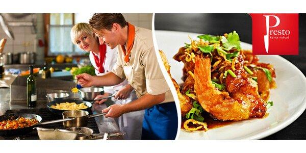 Oblíbené kurzy vaření ve známé škole Presto