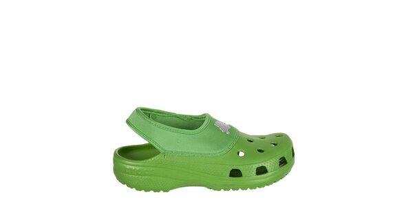 Chlapecké zelené pantofle Crocs