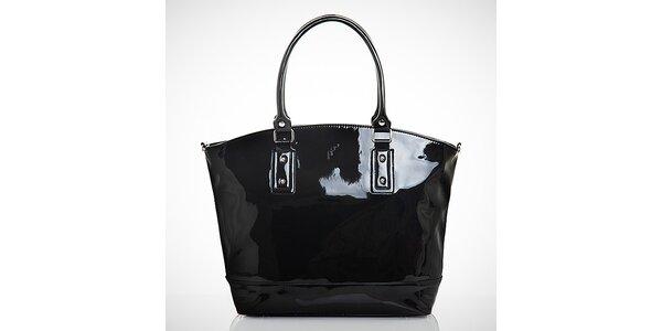 Dámská černá lakovaná kabelka z eko kůže Felice