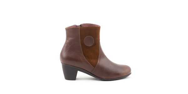 Dámské kotníkové boty se semišovými prvky Liberitae