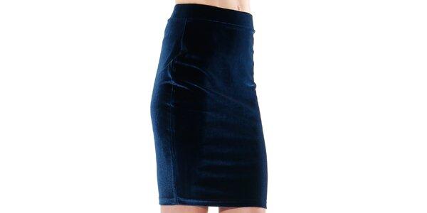 Dámská indigová pouzdrová sukně do pasu Leggsington