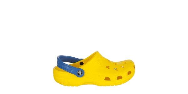 Chlapecké žlutomodré pantofle Crocs