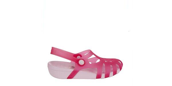 Dívčí malinové sandálky Crocs