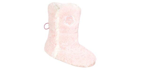 Dámské růžové chlupaté hucule Trespass