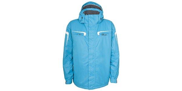 Pánská světle modrá lyžařská bunda s kapucí Trespass