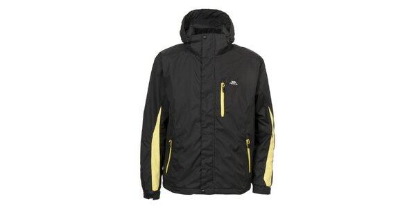 Pánská černá bunda se žlutými zipy Trespass
