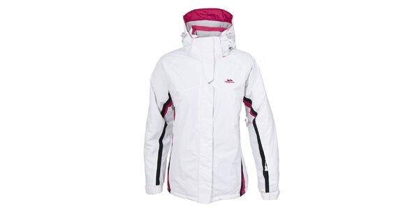 Dámská bílá lyžařská bunda s kapucí Trespass