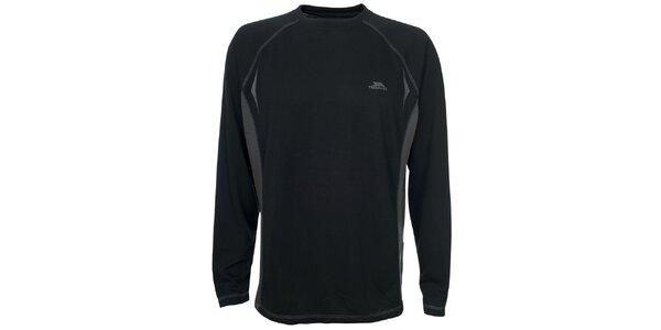 Pánské černé triko s dlouhým rukávem Trespass