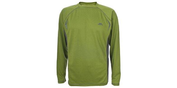 Pánské zelené triko s dlouhým rukávem Trespass