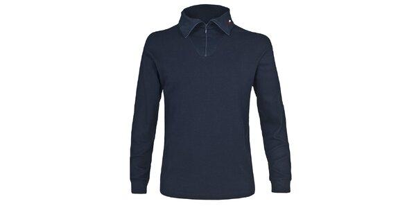 Pánské lyžařské polo tričko v tmavě modré barvě Trespass