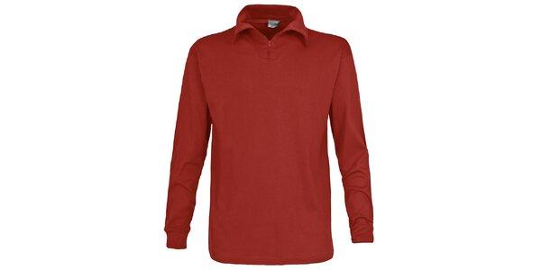 Pánské červenohnědé lyžařské polo tričko Trespass