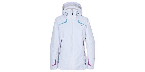Dámská bílá lyžařská bunda s barevnými prvky Trespass