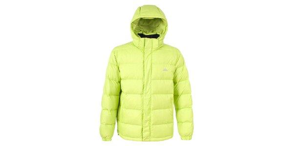 Pánská žlutozelená péřová bunda Trespass