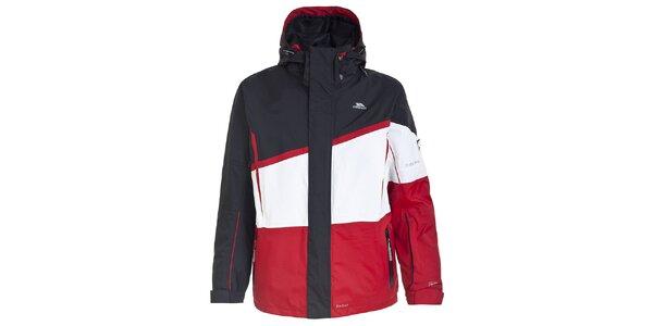 Pánská černo-červená lyžařská bunda Trespass
