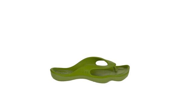 Dámské limetkově zelené žabky Crocs
