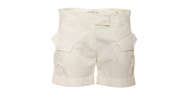 Bílé dámské bavlněné šortky Pietro Filipi