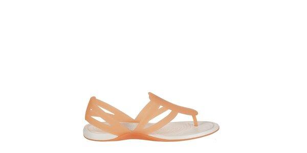 Dámské meruňkové sandály Crocs s masážní stélkou