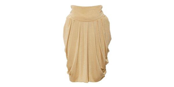 Zlatá nabíraná sukně Pietro Filipi