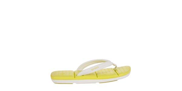 Dámské bílo-žluté žabky Crocs