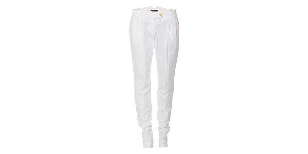 Bílé bavlněné dámské kalhoty Pietro Filipi