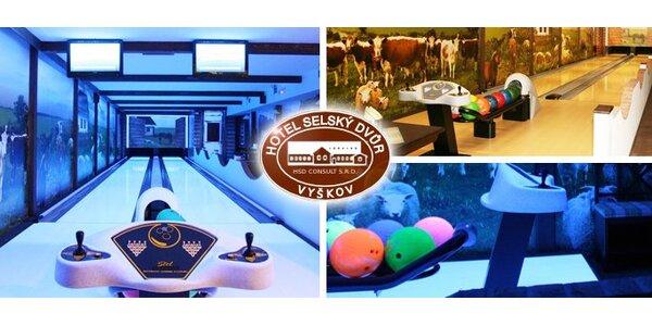 249 Kč za 2 hodiny bowlingu v hotelu Selský Dvůr ve Vyškově.
