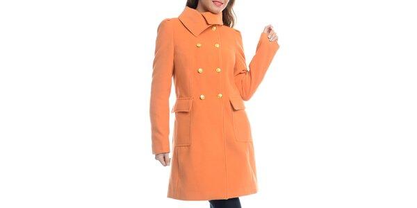 Dámský dvouřadý oranžový kabát Vera Ravenna