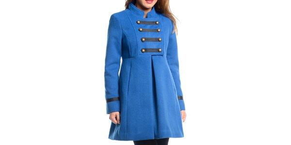 Dámský modrý vojenský kabát Vera Ravenna