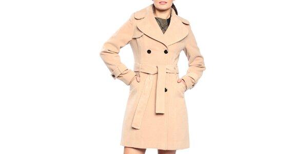 Dámský dvouřadý kabát v pískovém odstínu Vera Ravenna