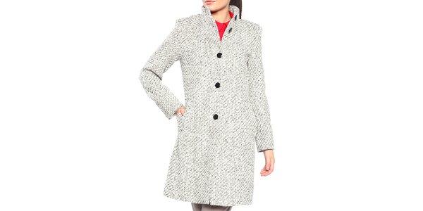 Dámský černo-bílý kabát s knoflíky Vera Ravenna