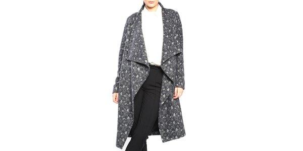 Dámský šedý vzorovaný kabát Vera Ravenna