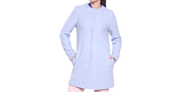 Dámský světle modrý kabátek Vera Ravenna