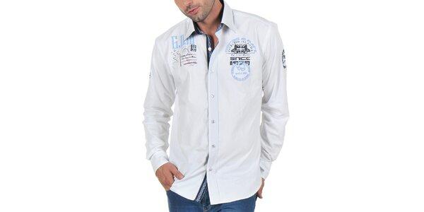 Pánská bílá zdobená košile Giorgio di Mare