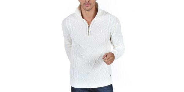 Pánský krémově bílý svetr se vzorem Giorgio Di Mare