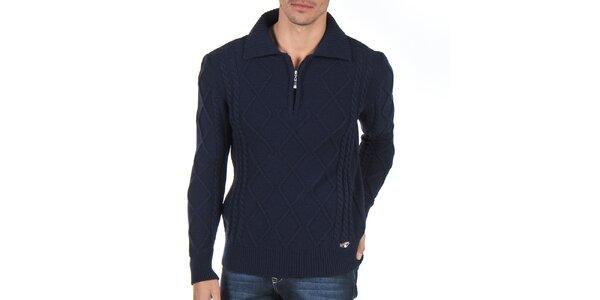 Pánský tmavě modrý svetr se vzorem Giorgio Di Mare