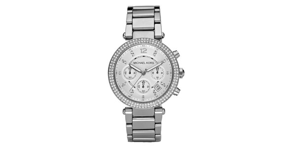 Dámské ocelové hodinky ve stříbrné barvě Michael Kors