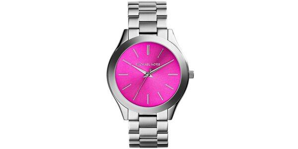 Dámské nerezové hodinky s růžovým ciferníkem Michael Kors